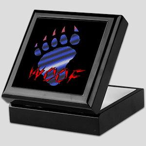 WOOF/LEATHER PRIDE BEAR PAW/B --Keepsake Box