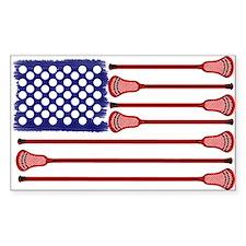Lacrosse AmericasGame Rectangle Sticker