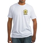 d'ALLARD Family Crest Fitted T-Shirt