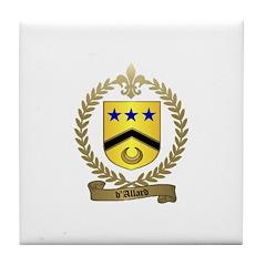 d'ALLARD Family Crest Tile Coaster