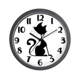 Black cat Basic Clocks