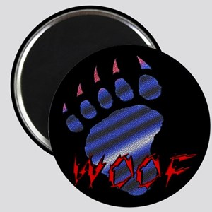 WOOF/LEATHER PRIDE BEAR PAW/B-Magnet
