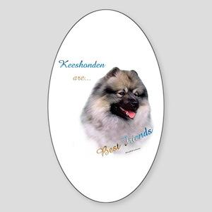 Keeshond Best Friend 1 Oval Sticker