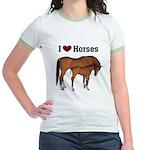 Love My Horse Jr. Ringer T-Shirt