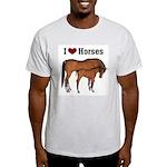 Love My Horse Ash Grey T-Shirt