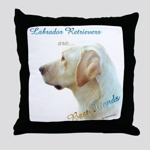 Yellow Lab Best Friend 1 Throw Pillow