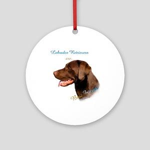 Choclate Lab Best Friend 1 Ornament (Round)