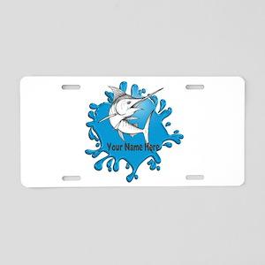 Marlin Art Aluminum License Plate