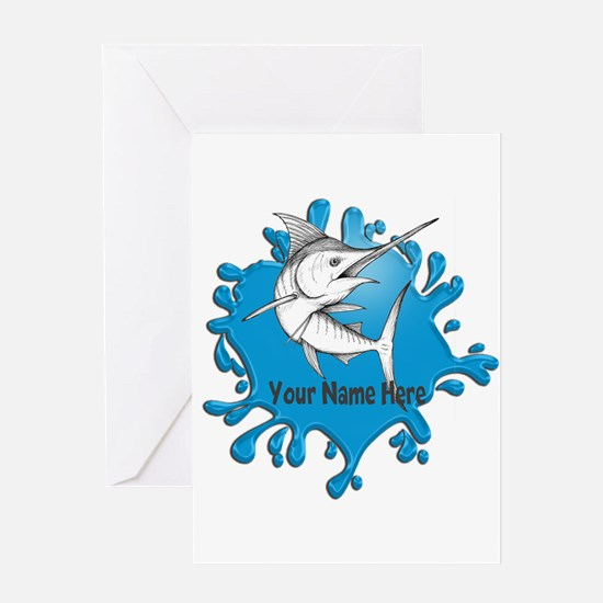 Marlin Art Greeting Cards