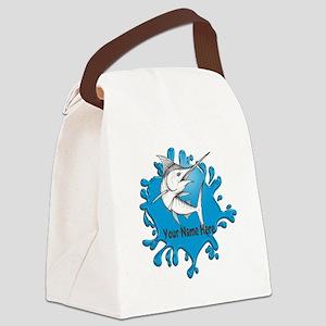 Marlin Art Canvas Lunch Bag