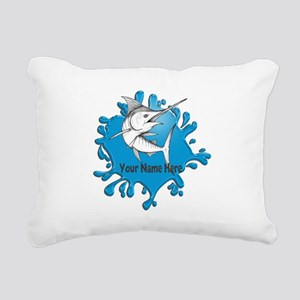 Marlin Art Rectangular Canvas Pillow