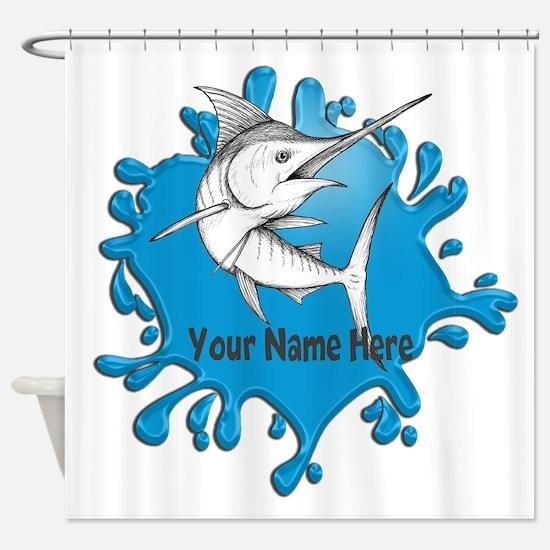 Marlin Art Shower Curtain