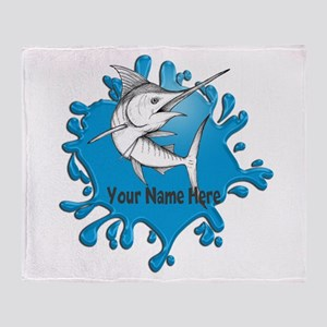 Marlin Art Throw Blanket