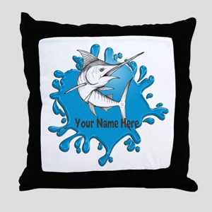 Marlin Art Throw Pillow