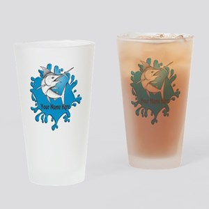 Marlin Art Drinking Glass