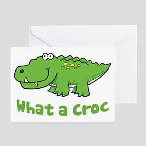 What a Croc Greeting Card