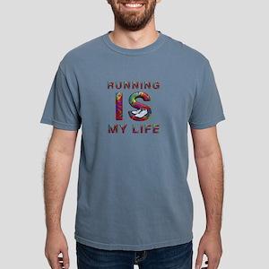 runninglifetext Mens Comfort Colors Shirt