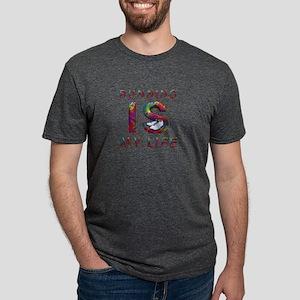 runninglifetext Mens Tri-blend T-Shirt