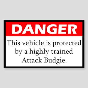 Danger Attack Budgerigar Sticker