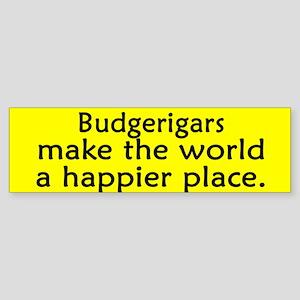 Happy Place Budgie Bumper Sticker