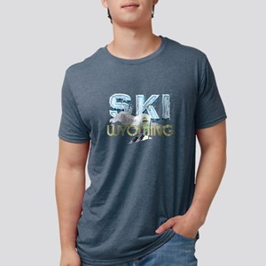 skiwyoming Mens Tri-blend T-Shirt