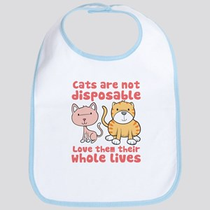 Cats Are Not Disposable Bib