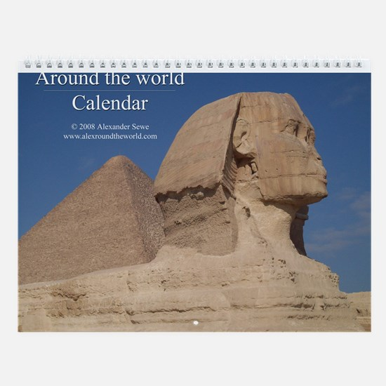 Around the world wall calendar 2