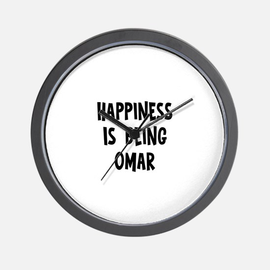Happiness is being Omar Wall Clock