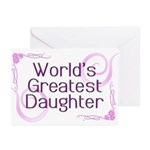 World's Greatest Daughter Greeting Cards (Pk of 20