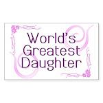 World's Greatest Daughter Rectangle Sticker 50 pk