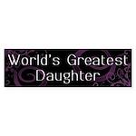 World's Greatest Daughter Bumper Sticker (50 pk)