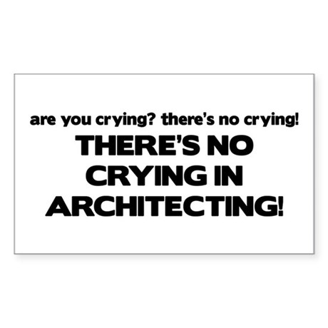 There's No Crying in Architecting Sticker (Rectang
