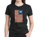 Obama Flag Women's Dark T-Shirt