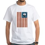 Obama Flag White T-Shirt