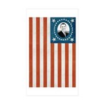 Obama Flag Rectangle Sticker 50 pk)