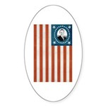Obama Flag Oval Sticker (10 pk)