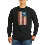 Obama Flag Long Sleeve Dark T-Shirt