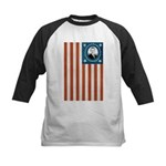Obama Flag Kids Baseball Jersey