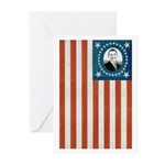 Obama Flag Greeting Cards (Pk of 20)