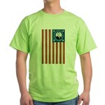 Obama Flag Green T-Shirt