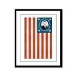 Obama Flag Framed Panel Print