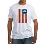 Obama Flag Fitted T-Shirt
