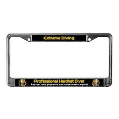 Professional Hardhat Diver, License Plate Frame