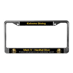 Mark V Hardhat Diver, License Plate Frame