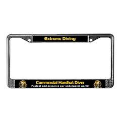 Commercial Hardhat Diver, License Plate Frame