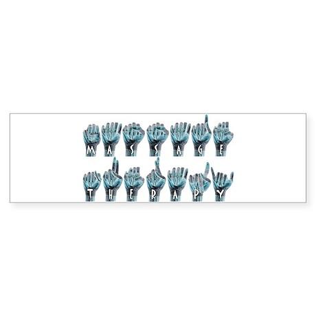 Massage Sign Language Bumper Sticker