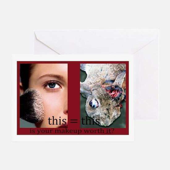 Makeup Test Greeting Card