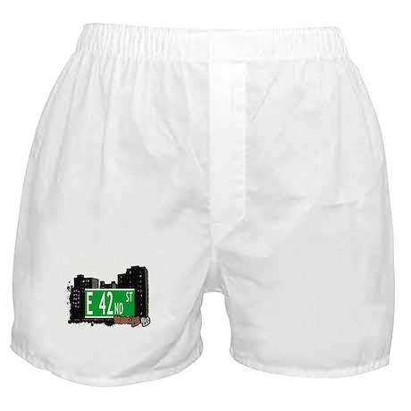 E 42nd STREET, BROOKLYN, NYC Boxer Shorts