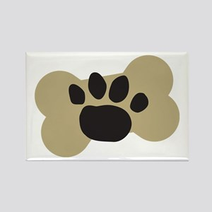 Dog Lover Paw Print Rectangle Magnet