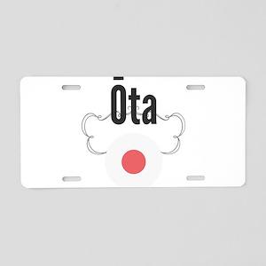 Ota Aluminum License Plate